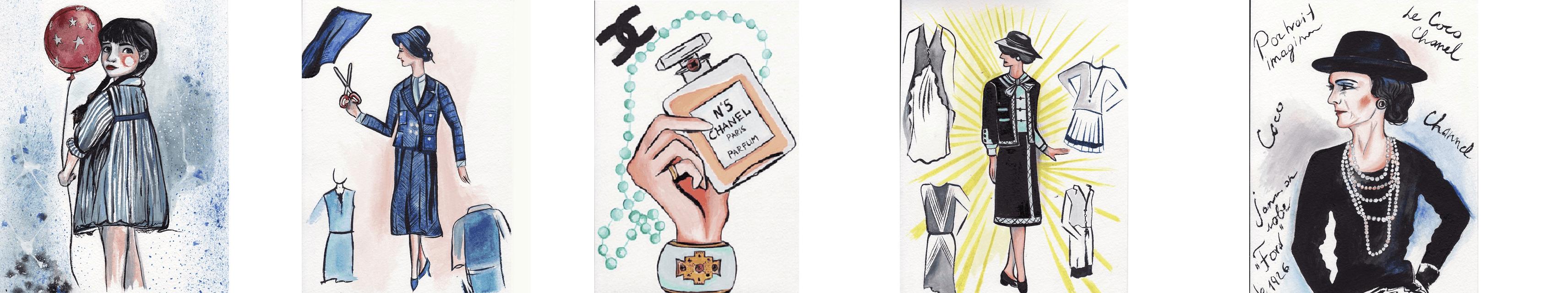 Иллюстрации книги Коко Шанель