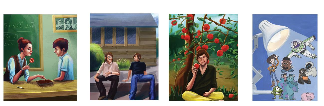 Стив Джобс рисунки